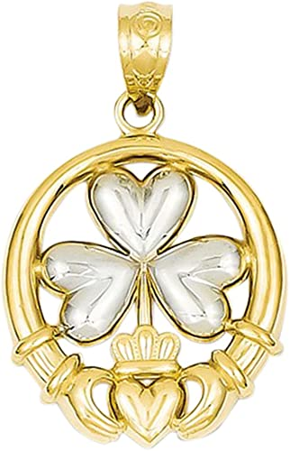 14k Yellow Gold 3-Leaf Clover Charm