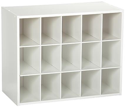 Gentil ClosetMaid 8983 Stackable 15 Unit Organizer, White
