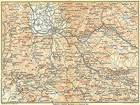 Rieti Italy Map.Italy Piano Di Rieti Sabina Settentr Valli Velino Salto Turano