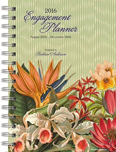 Wells Street by Lang Botanical Gardens 2016 Engagement Planner, August 2015 to December 2016, 6.5 x 8.5 Inches (7005083)