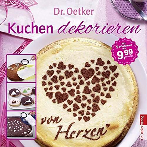 Kuchen dekorieren - Broschüre mit 5 Dekoschablonen