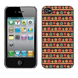ZECASE Funda Carcasa Tapa Case Cover Para Apple iPhone 4 / 4S No.0000001