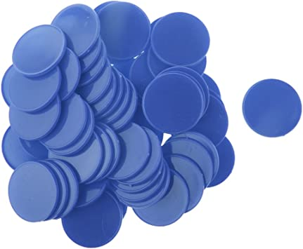 Juego De Fichas De Póker De Colores Brillantes De Plástico Juego De Mesa para Niños Contadores De Juegos De Mesa - Azul: Amazon.es: Juguetes y juegos