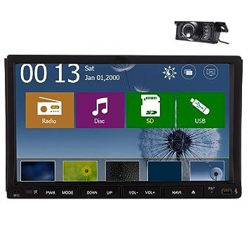 EinCar 7 pulgadas Doble 2 din coche DVD GPS de la pantalla t¨¢ctil
