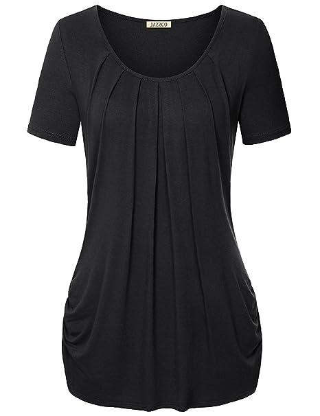 e2a80e8e4f630 Jazzco Neck Short Sleeve T Shirt For Leggings For Women at Amazon ...