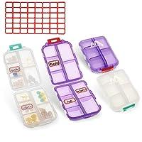 2 Pack Pill case Travel Pill Organizer, Pill Box for Purse Vitamin Fish Oil 10 Compartments...