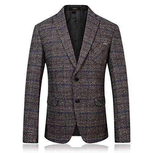Herbst und Winter Freizeitanzug hochwertige männer einzelne westliche Mode Wolle Freizeitanzug,Farbe,52