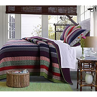 Greenland Home 3 Piece Marley Quilt Set, Full/Queen