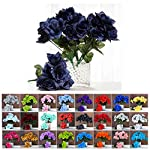 Efavormart-84-Artificial-Open-Roses-Wedding-Flowers-Bouquets-for-Party-Events-Decoration