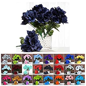 Efavormart 84 Artificial Open Roses Wedding Flowers Bouquets for Party Events Decoration 26