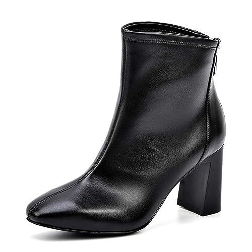 Amazon.com: Hoxekle - Botas de tobillo con cremallera para ...