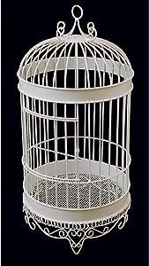 Firefly Imports Homeford Bird Cage Wedding Centerpiece, White