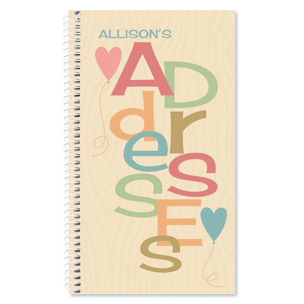 Natural Personalized Lifetime Address Book