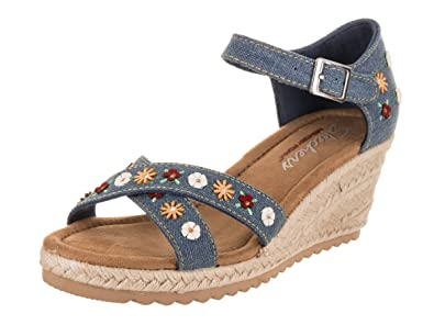 129af7e8f6 Amazon.com | Skechers Women's Monarchs - Cali Fever Denim 10 B US | Shoes