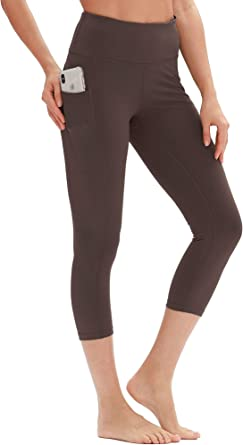 High Waisted Workout Leggings icyzone Yoga Pants for Women Activewear Athletic Capris Exercise Tights