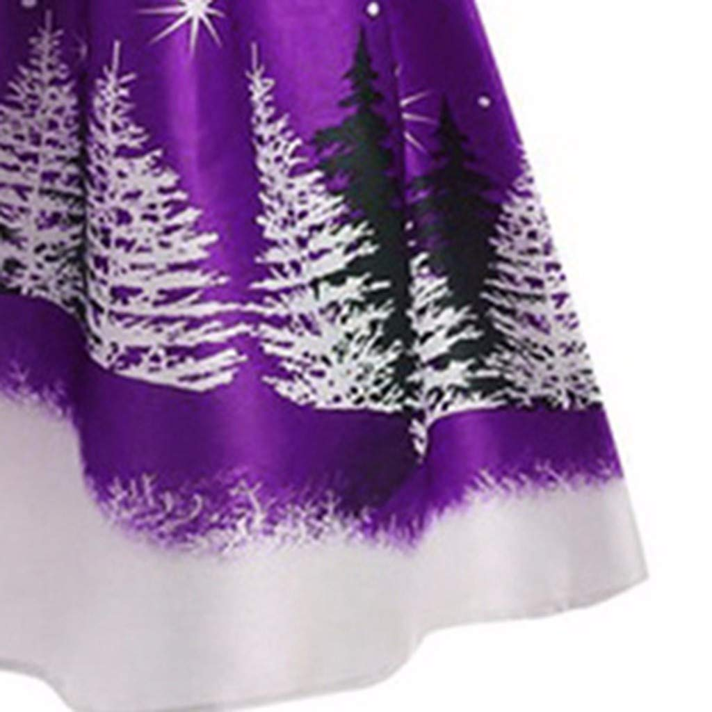 TAOtTAO Women Casual Christmas Day Long Sleeve Print Dress Plus Size Party Dress