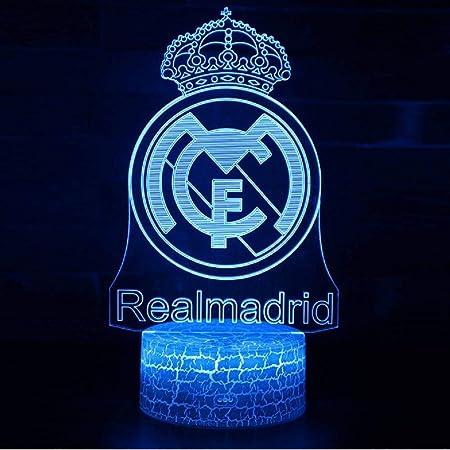 Balón de fútbol ilusión 3D luz Nocturna Real Madrid luz Ambiental ...
