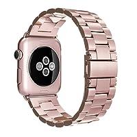 Simpeak Correa para Apple Watch, Correa para Apple Watch 38mm Series 3/2/1 40mm Series 4 band de Acero Inoxidable Reemplazo de Banda de la Muñeca con Metal Corchete para Apple Watch Todos los Modelos 38mm 40mm