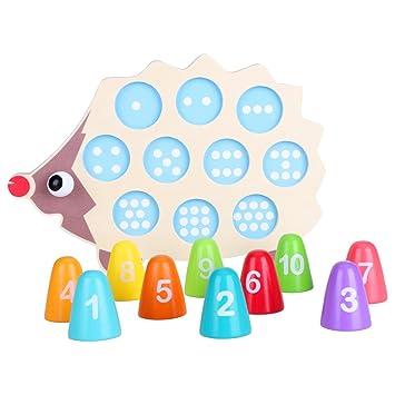 Zerodis Baby Holz Puzzle Mathematik Anzahl Spielzeug Matching Bunt  Pädagogisches Lernspielzeug Geburtstag Weihnachtsgeschenk Für Kinder