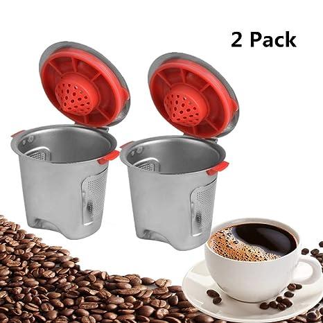 Amazon.com: Konesky Tazas reutilizables K para Keurig, 4 ...