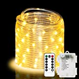 LED Rope Lights 32.8ft 100 LED Strip Lights Cosumina Waterproof Fairy Lights Dimmable LEDs for Garden Camping Party Decor Indoor Outdoor Landscape Lighting Patio Tree Light Rope Warm White