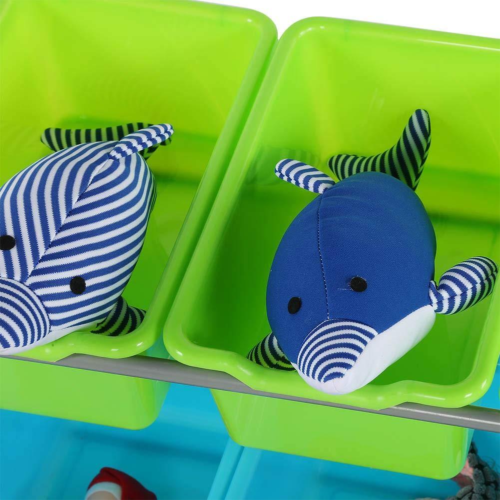 con 12 scatole con deflettore per soggiorno ufficio camera da letto Scatola portaoggetti in plastica per bambini corridoio per giocattoli