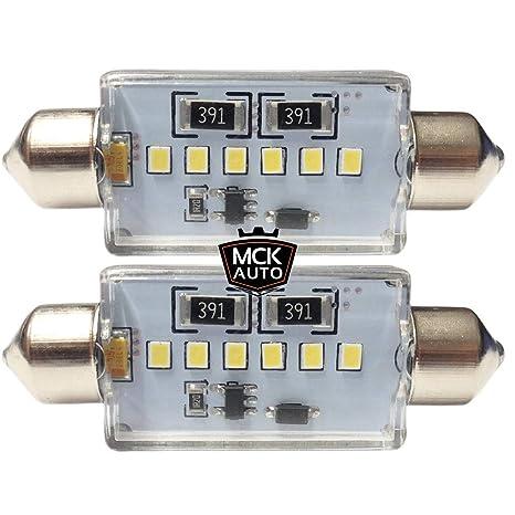 MCK - Bombillas de luz para matrícula de coche, impermeables, 36 mm, luz