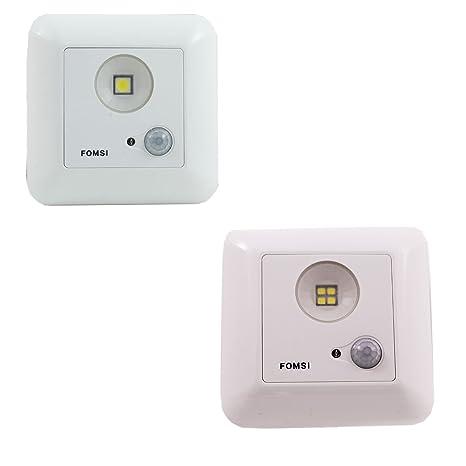 Lámpara de Luz LED Con Sensor de Movimiento PIR Empotrable de Luz Nocturna Automática C1-