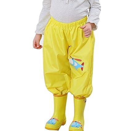 d62c6625f647b mama stadt Pantalón Impermeable Bebe, Pantalon de Lluvia Niño y Niña Ligero  Impermeable, para