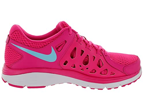 half off 61a0b a26c0 Nike Women s Dual Fusion Run 2 Running Shoes Vivid Pink Pink Glow White  Polarized Blue 10 B(M) US  Amazon.in  Shoes   Handbags