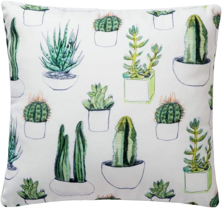 Pantaknot Cactus Decorative Throw Pillow Cover Pillowcase Cushion Home Decor, 18 x 18 Inch