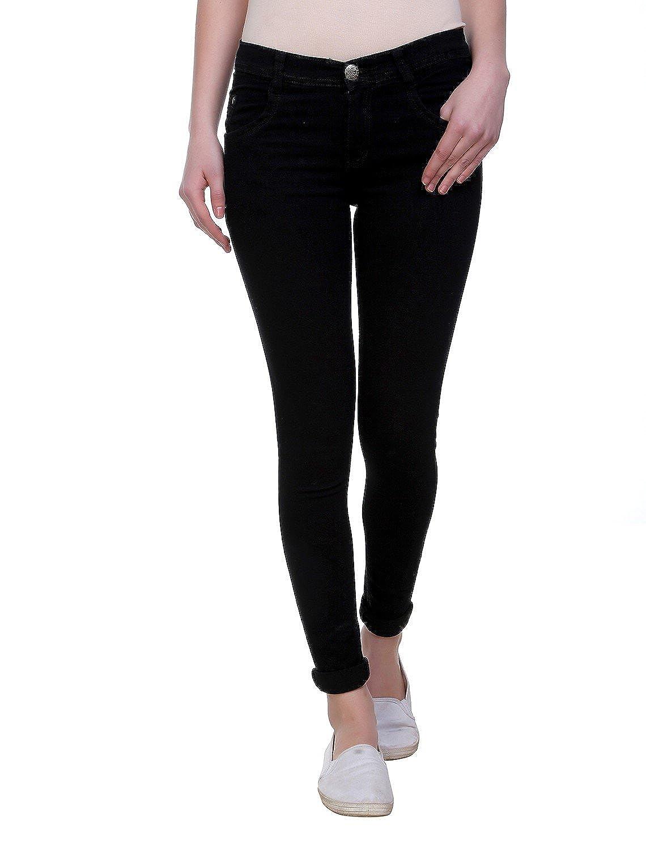 Pantoff Women's Slim Fit Black Jeans