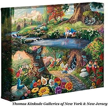 Thomas Kinkade Disney Alice in Wonderland 8 x 10 Gallery Wrapped Canvas
