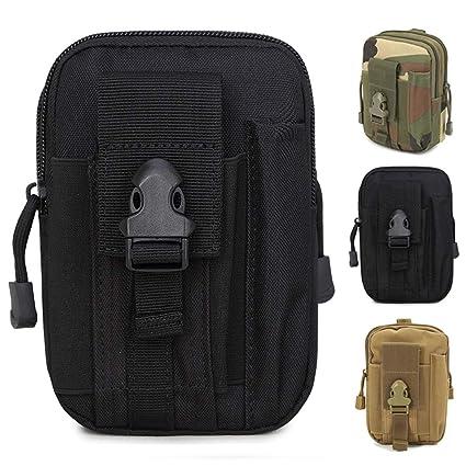 ZhaoCo Multiusos Poly Herramienta Soporte, Tactical Molle EDC Bolsa Utilidad Gadget Bolsa de Cintura con Teléfono Móvil para Cinturón para Deportes ...