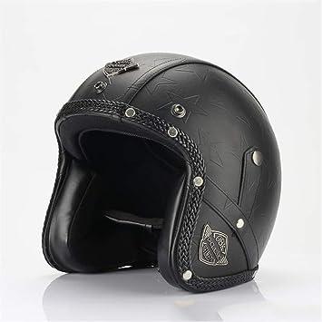 Casco del Motorista De Harley-Davidson, Casco Retro Hecho A Mano ...