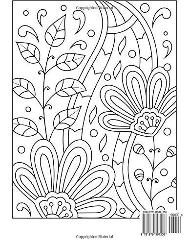 Big libro para colorear de grandes animales /& flores de impresión ...