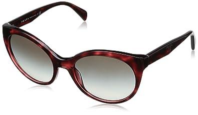 Amazon.com: Prada Pr23os Kaq0a7 - Gafas de sol, color rojo y ...