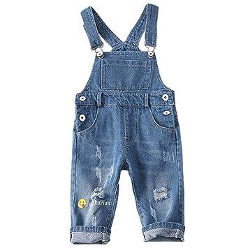 Niños Niñas Pantalones de Peto Vaqueros Overalls Pantalón ...
