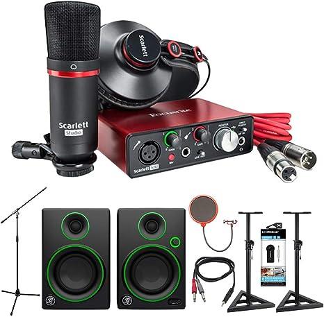 Focusrite Scarlett Solo Studio - Interfaz de audio USB y paquete de grabación (2ª generación) + Mackie