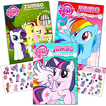 My Little Pony Coloring Book Super Set With Stickers 3 Jumbo Books