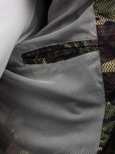 Uomini Vento Transizione Di A Giacca Cerniera 4d4 Cappuccio Militare Verde Camo Giacca Bolf Sport rzqARZxWr
