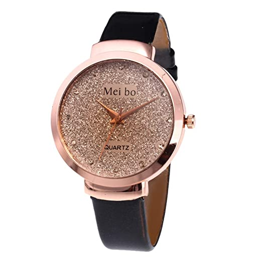 af027671b Women Girls Leather Band Watches Cuekondy Simple Fashion Round Dial Analog  Quartz Wrist Watches 2019 Valentine s