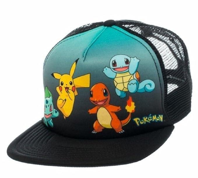 e39d4d1de Amazon.com: Pokemon Original Starters Logo Adjustable Snapback Cap ...