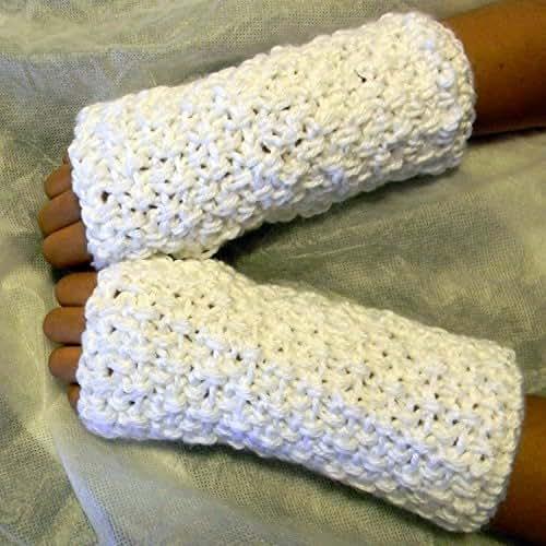 Crochet Fingerless Glovesmitts Amazonca Handmade