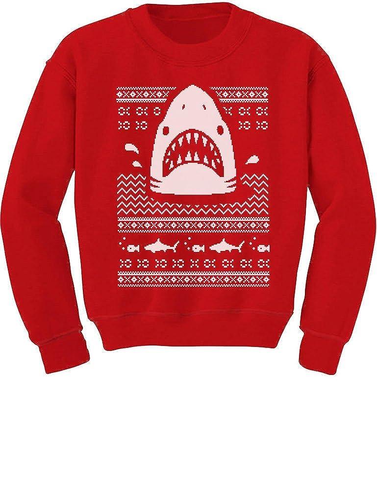 TeeStars - Great White Shark Ugly Christmas Sweater Toddler/Kids Sweatshirts GhPhralgf5