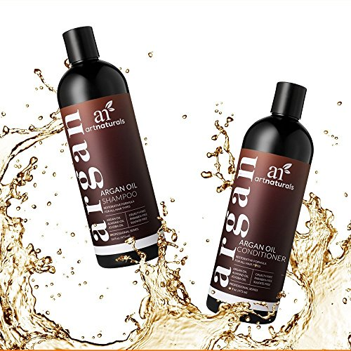 ArtNaturals Champú Orgánico Marroquí Champú y Acondicionador de Aceite de Argan (2 x 16 Oz) - Sin Sulfato - Voluminizador e Hidratante, Suave en Cabello ...