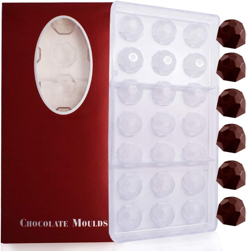 BESTZY moules /à Bonbons Polycarbonate Transparent pour Les Bonbons Les chocolats Carr/é