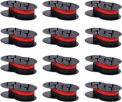 Bigger Replacement for Porelon 11216 Universal Twin Spool Calculator Ribbon for Nukote BR80c, Sharp El 1197 P III, Dataproducts R3027 (1 3/8