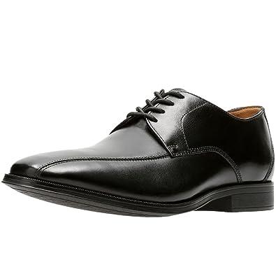 86b91d2d5c6 Clarks Gilman Mode Mens Cuir Large Derby Chaussures Lacées  Amazon ...