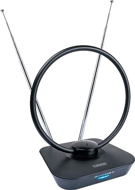SCHWAIGER -20365- Antena DVBT-2 de interior con amplificador | máxima fuerza de la señal | integ. Filtro de corte LTE | para la recepción de DVB-T ...